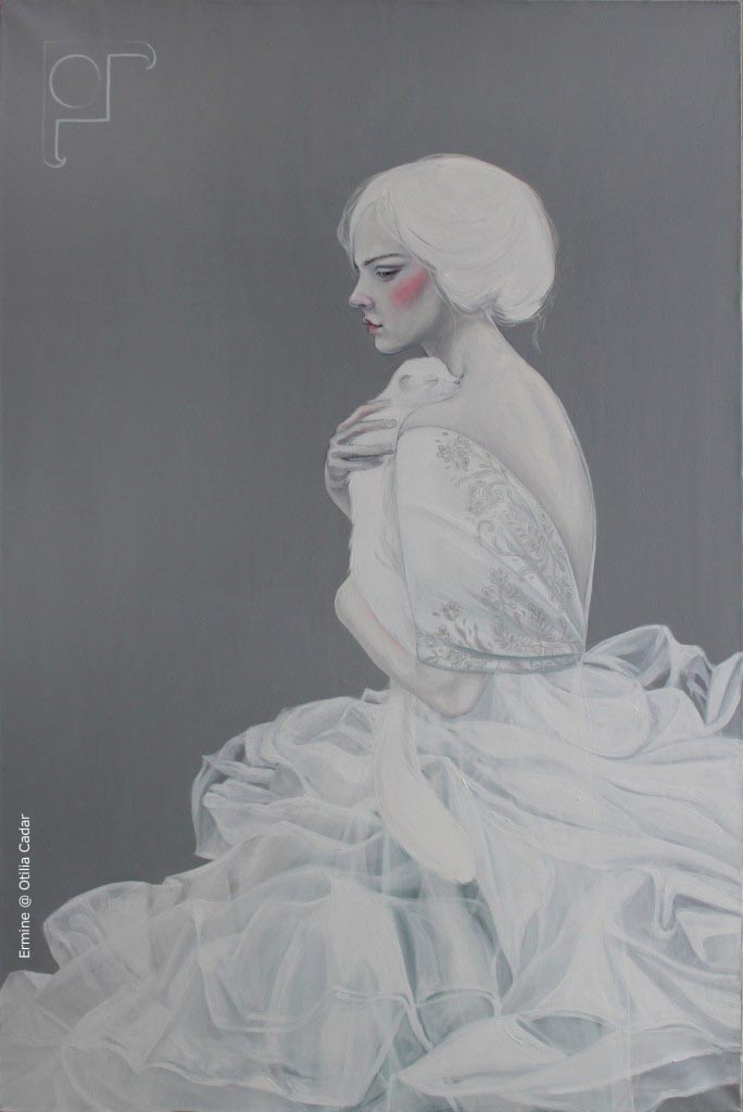 Ermine @ Otilia Cadar - oil on canvas 120x80cm