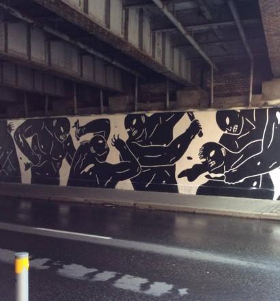 Cleon Peterson - work in progress for Katowice Street Art Festival