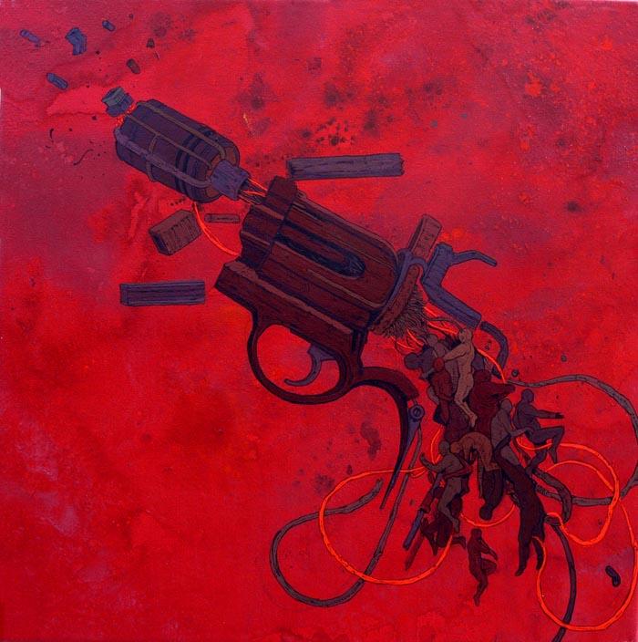 Daniel Munoz painting