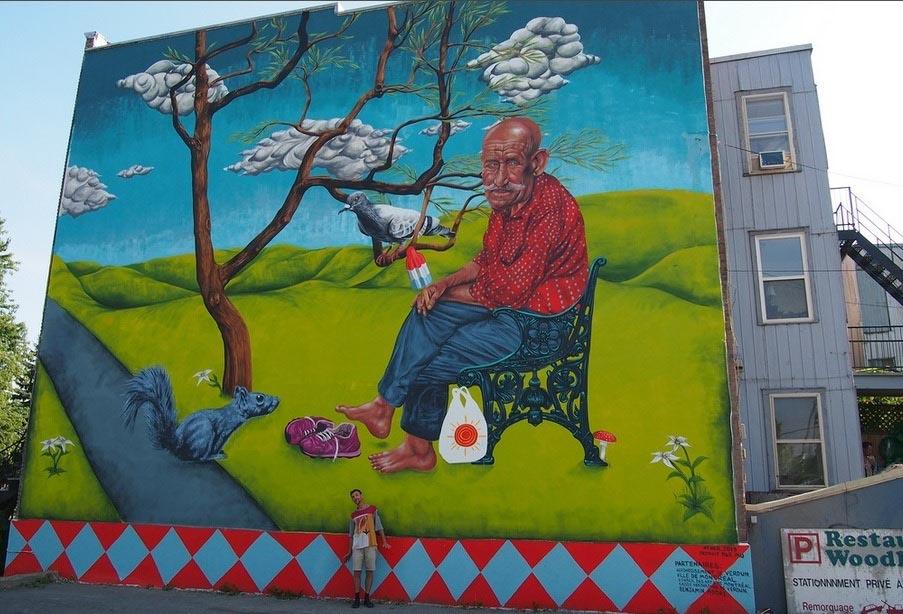 Popsicle mural