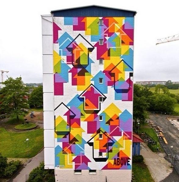 Above street art