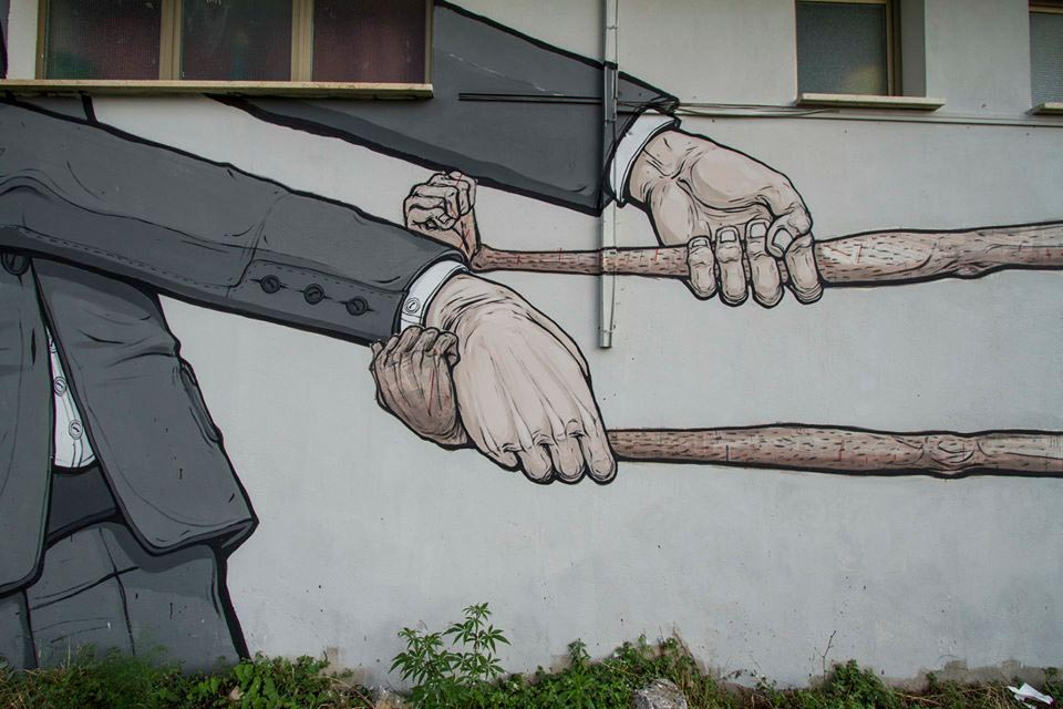 NemO's mural in Italy