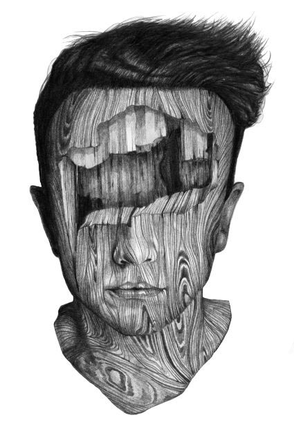 Wood Texture Drawing Pencil