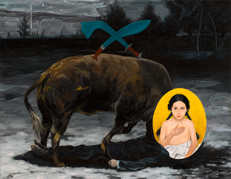 KALI, 2014, oil on canvas, 70 x 90 cm