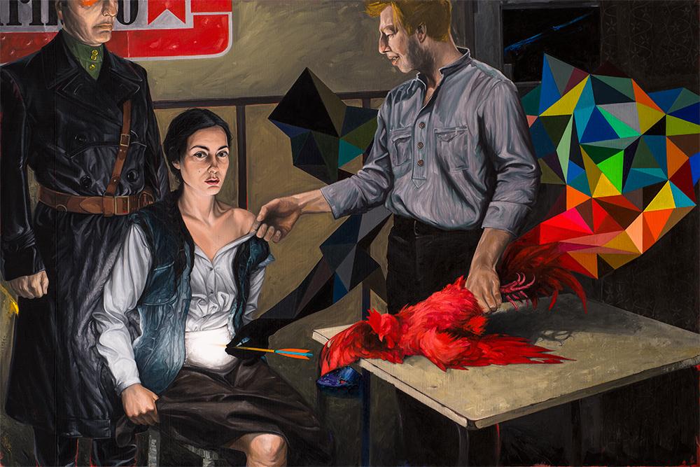 George Anghelescu, ELISABETA, 2011-2014, oil on canvas, 120 x 180 cm