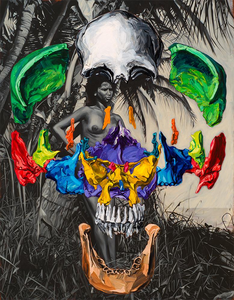 MORI, 2014, oil and acrylic on canvas, 90 x 70 cm
