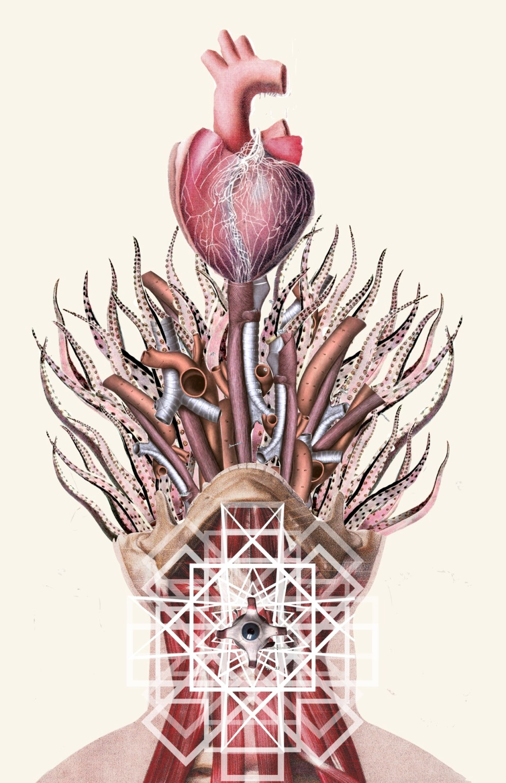 Skeleton Flower Art