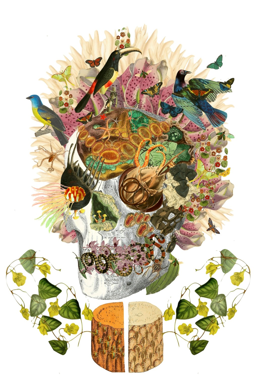 Collage art by Travis Bedel - The re:art