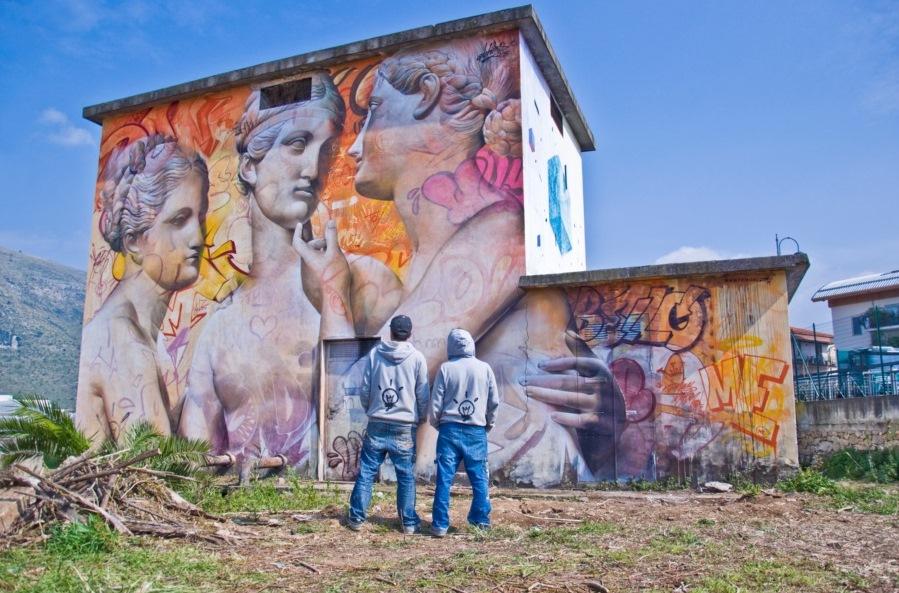 Pichi & Avo - Mural in Fondi / Photo: Arianna Barone