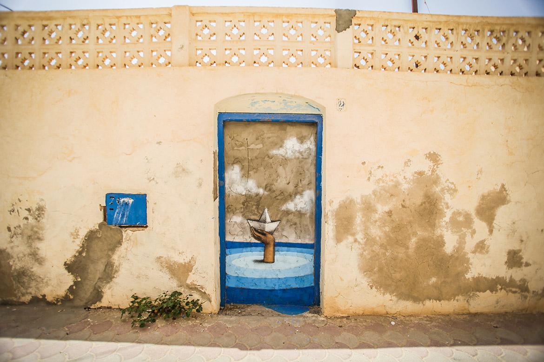 Julien Malland @ Djerbahood / Photo © Itinerrance Gallery / Aline Deschamps