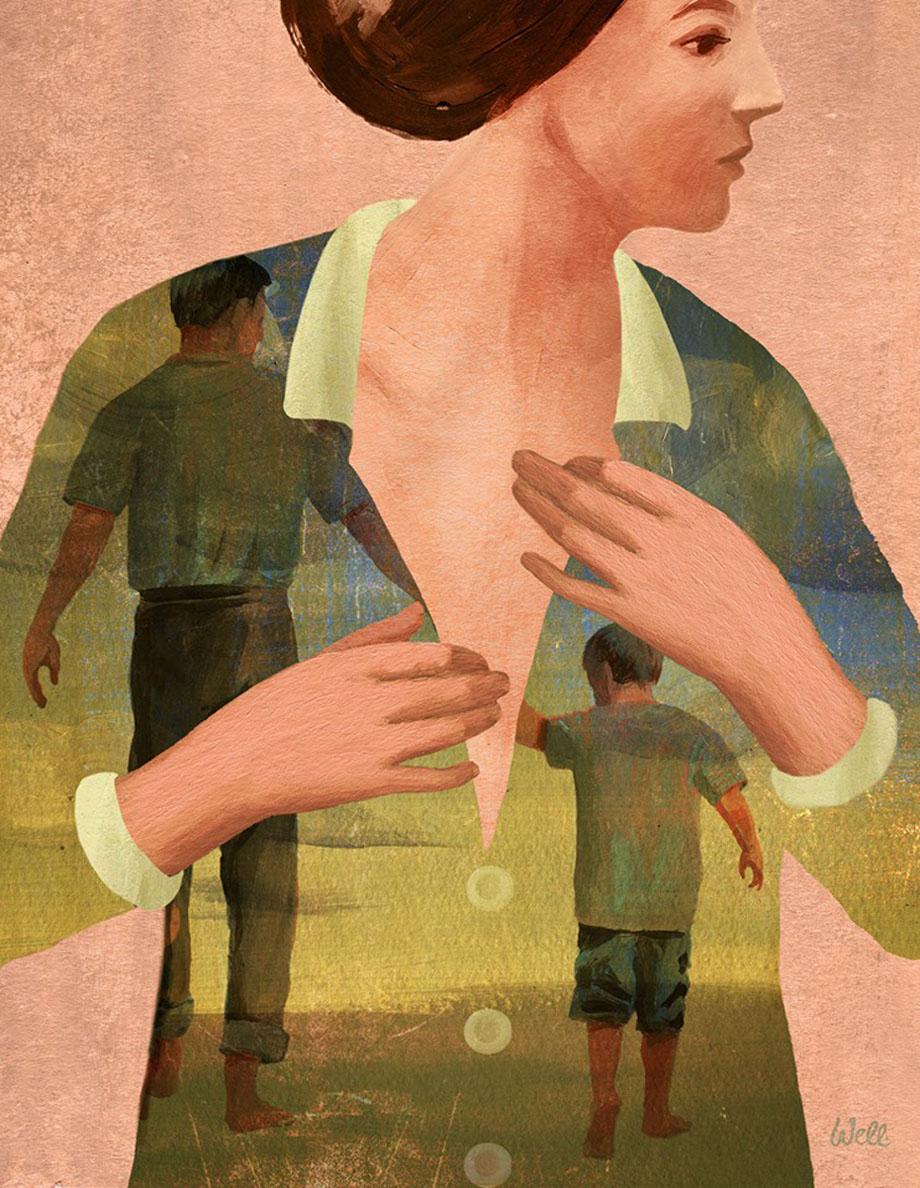 A. Wellinger - Stepmom, Editorial illustration