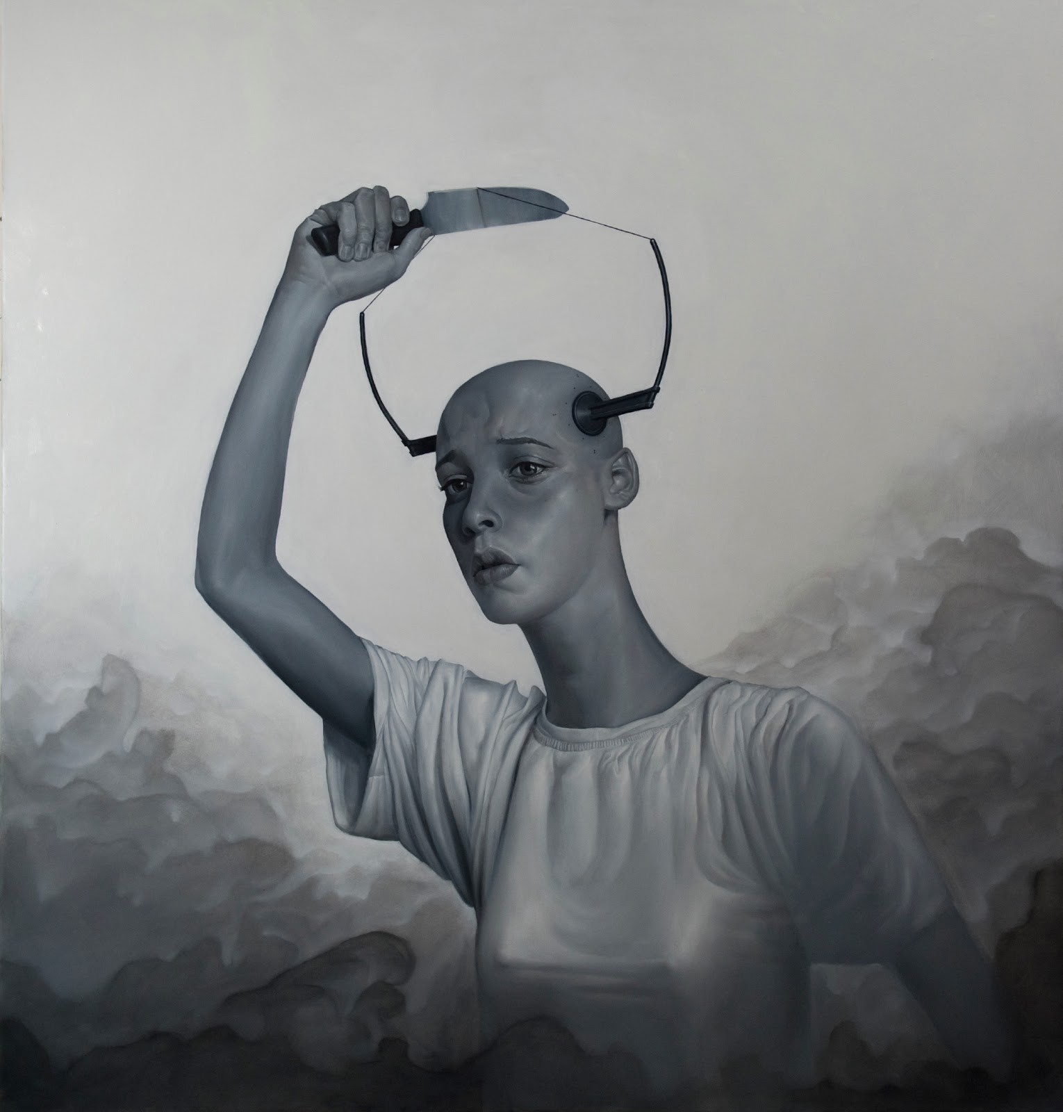Constantine Lianos - Cutting the equilibrium, 190 x 180 cm, oil on canvas