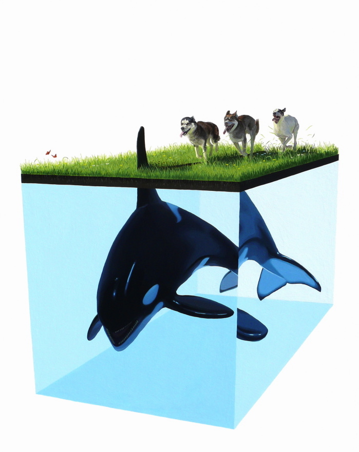 Josh Keyes - Thunder / Image © the artist
