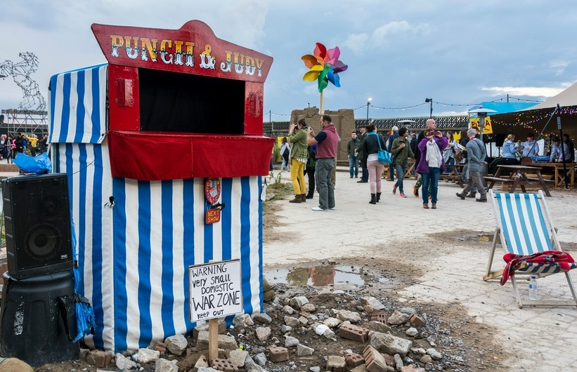 Julie Burchill - Punch and Judy / Photo by Carolyn Eaton