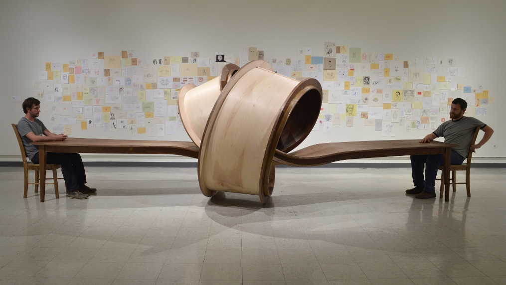 MichaelBeitz - Not Now, 2014, wood, 18 ft. x 6 ft. x 8 ft.