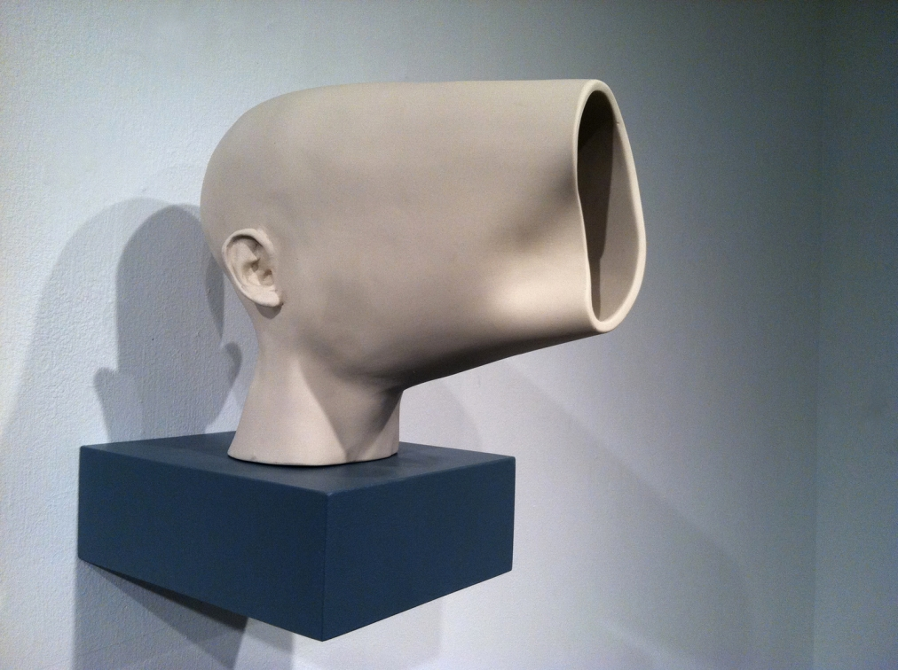 MichaelBeitz - Opening, 2011, vitreous china, 8 inches x 12 inches x 12 inches