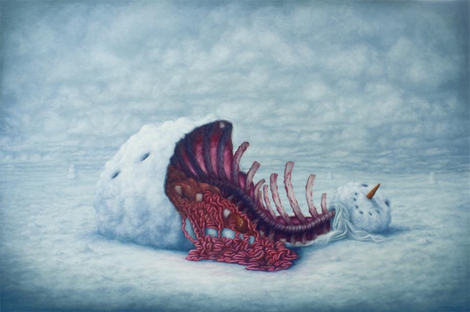 BrunoPontiroli - En chair et en eau, oil on canvas, 97 x 146 cm, 2013