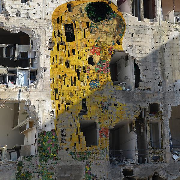 Tammam Azzam - Freedom Graffiti, 2013 / Image via Ayyam Gallery
