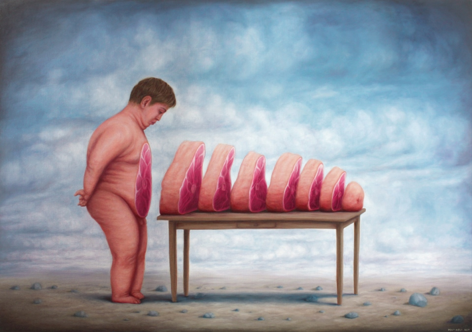 Bruno Pontiroli - Untitled, oil on canvas, 114 x 162 cm, 2014