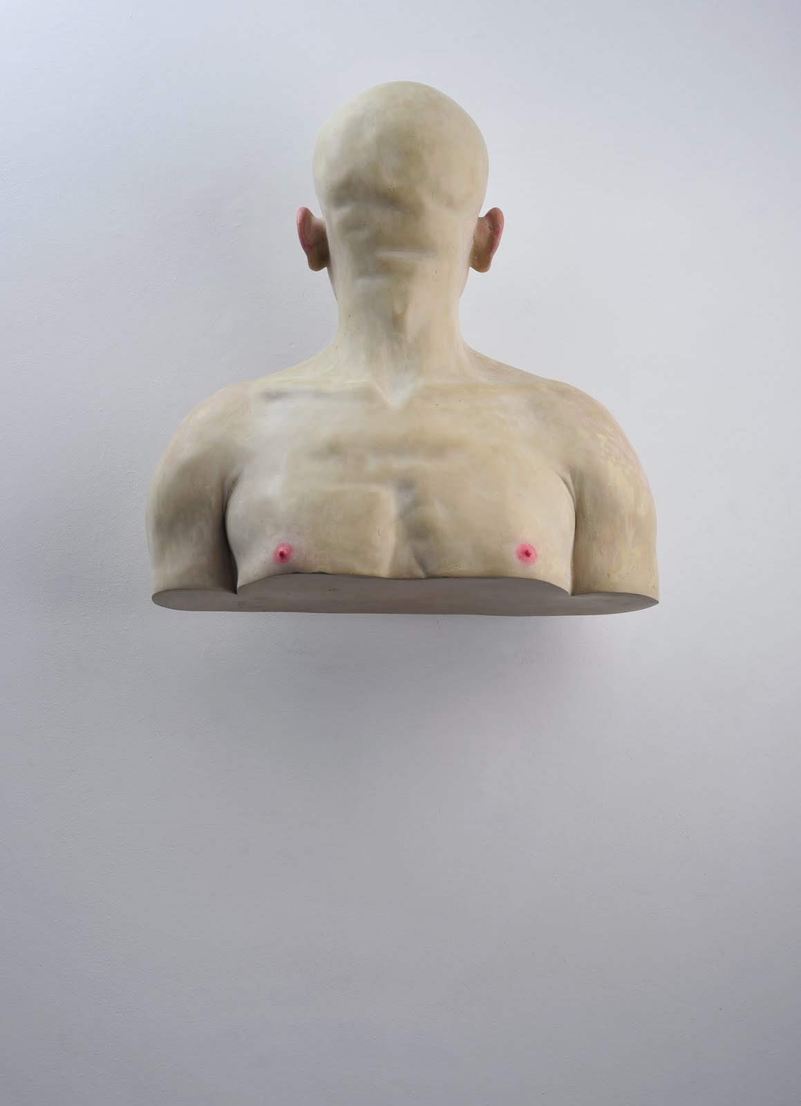 BogdanRața - Self to the Wall, 2008, polyester, synthetic resin, metal, paint, 68×58×24 cm, courtesy of Nasui collection & gallery and the artist