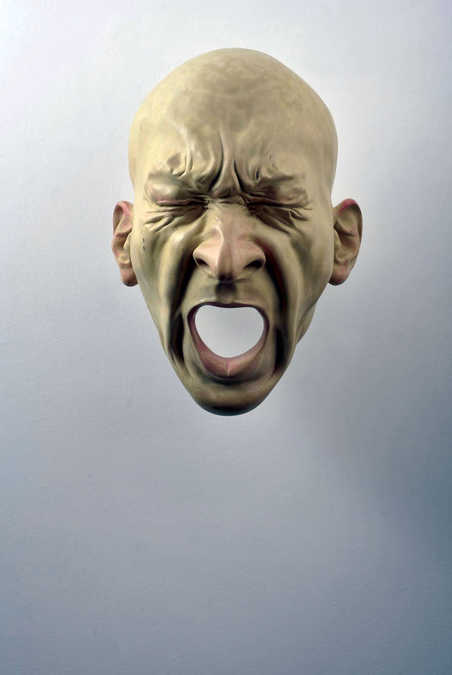 Bogdan Rața - Scream, polyester, synthetic resin, metal, paint, 2008, 57x46x34 cm, courtesy Slag Gallery / Photocredit: Andrei Jecza