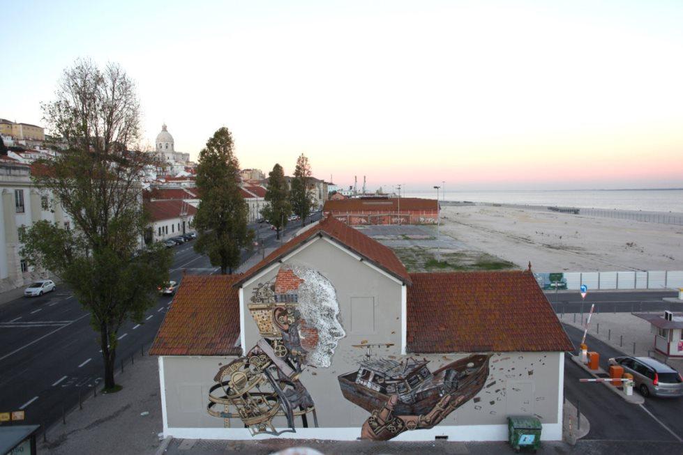 Pixelpancho & Vhils, Lisbon, 2014