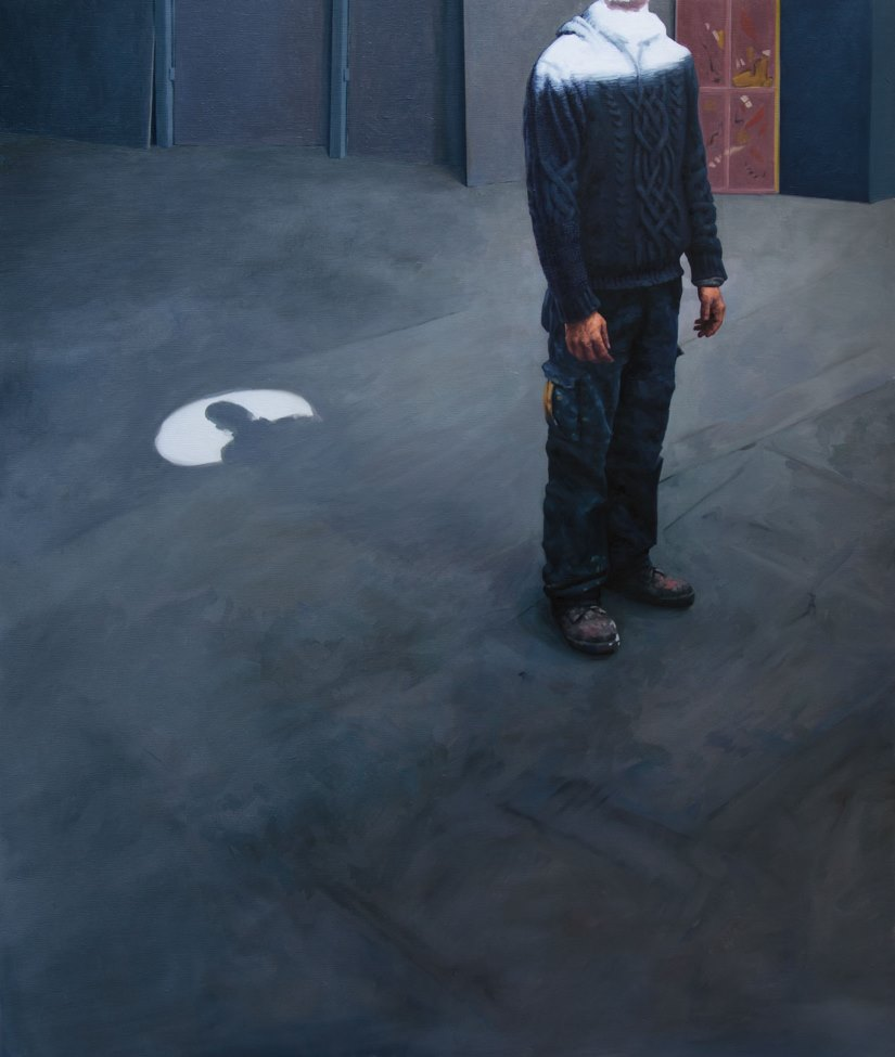 Diego Cirulli -Pit, oil on canvas, 105 x 86 cm, 2016