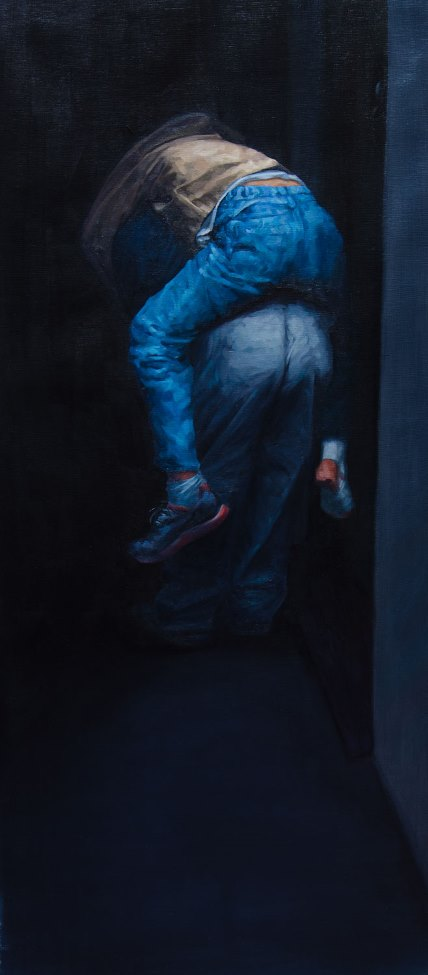 Diego Cirulli - Surrounded by, oil on canvas, 90 x 40 cm, 2016