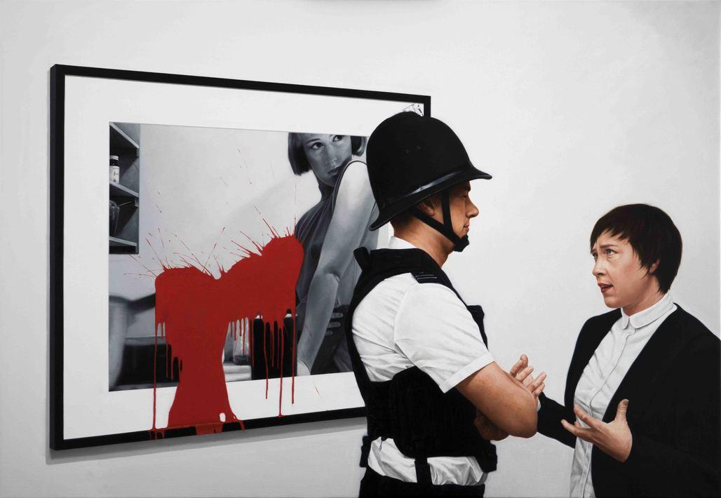 Kepa Garraza - Aggression 4, Frieze London. Oil on canvas, 100 x 140 cm, 2015
