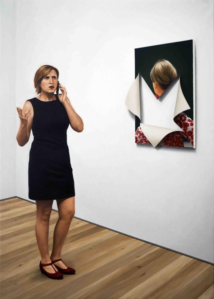 Kepa Garraza - Aggression 6, Fondation Beyeler. Oil on canvas, 162 x 116 cm, 2016