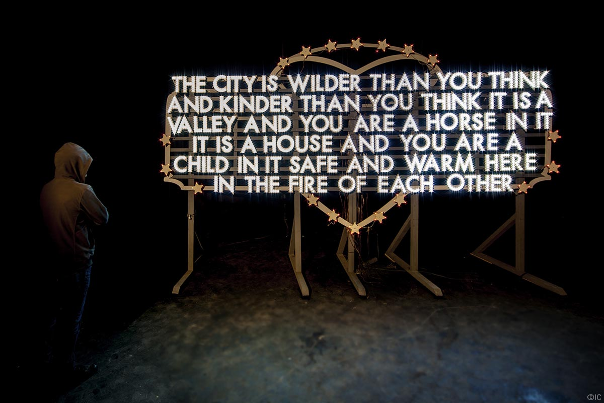 Nuart 2016 - Robert Montgomery, Photo: Ian Cox
