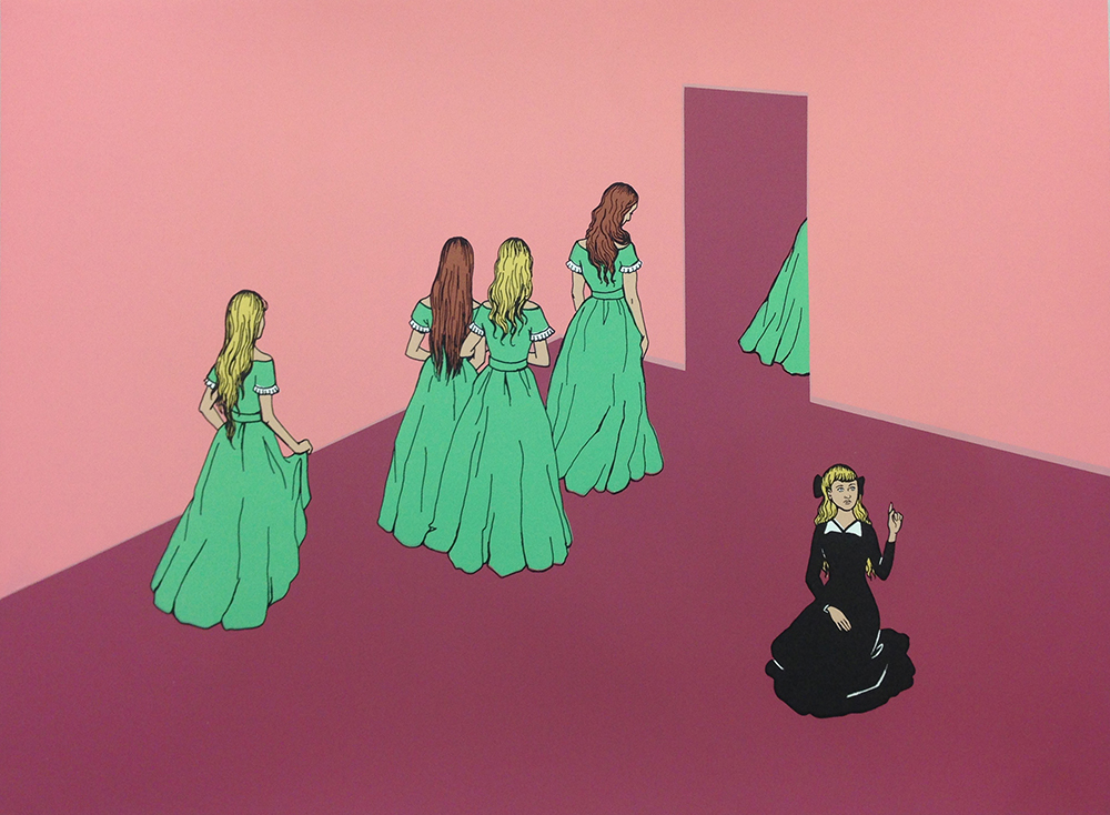 "Zoe Hawk - Arsenic Green, silkscreen, 15 x 20"", 2016"