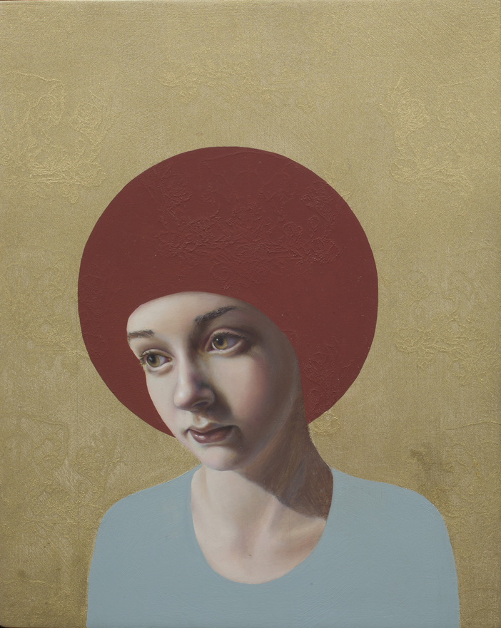 Pippa Young - Icon, 24x30 cm, oil on canvas