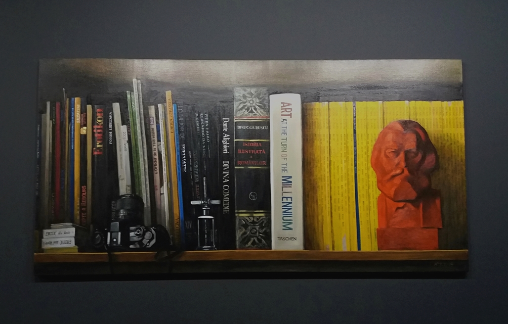Roman Tolici - Shelf 1, oil on canvas, 100 x 200 cm, 2004