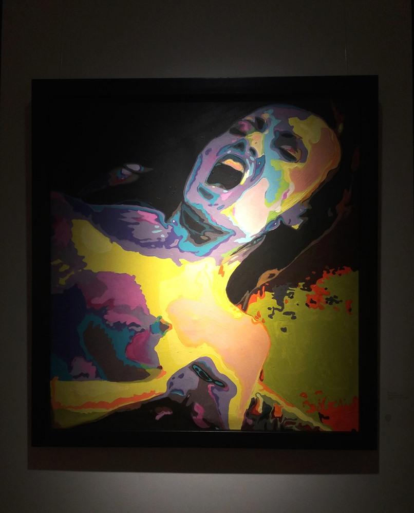 Dumitru Gorzo - Untitled, acrylic on canvas, 90x90 cm, 2005