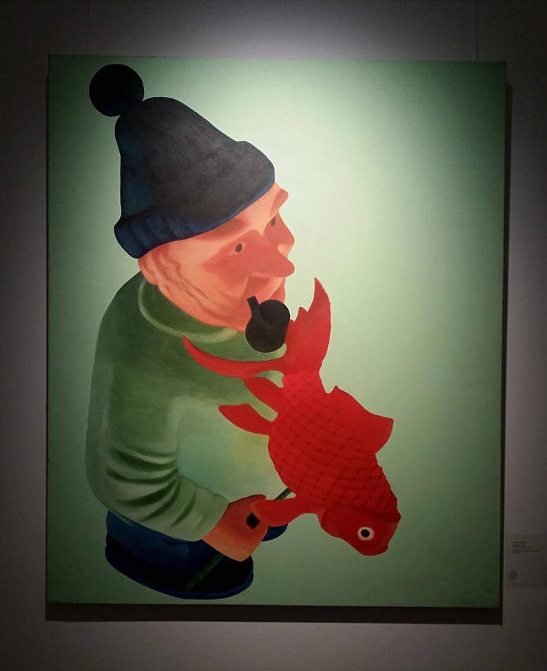 Codruța Cernea - The Little Red Fish, acrylic on canvas, 100x120 cm, 2007