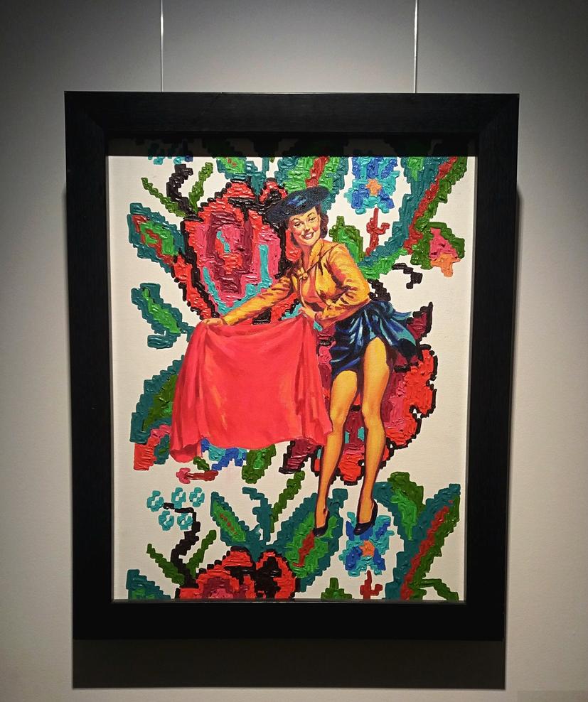 Dumitru Gorzo - Pinup g, acrylic on canvas, 60x45 cm, 2003