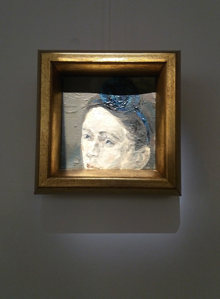 Ioana Ursa - True romantic, oil on canvas, 10x10 cm, 2010
