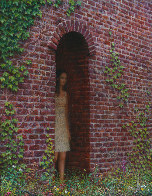 Aron Wiesenfeld - Captive, oil on canvas, 13 x 10 in., 2015