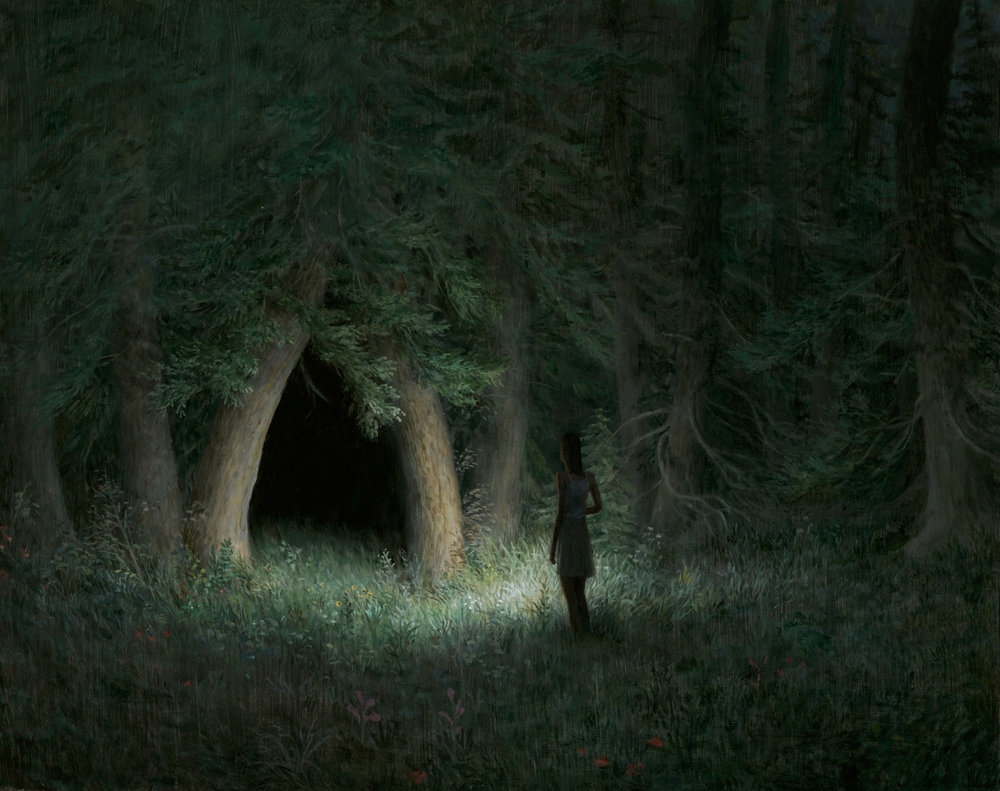 Aron Wiesenfeld - Night Grove, oil on panel, 19 x 24 in., 2016