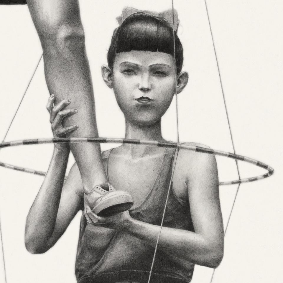 Pierre Coubeau FSTN - Joy, pencil on paper, 2016 (detail)