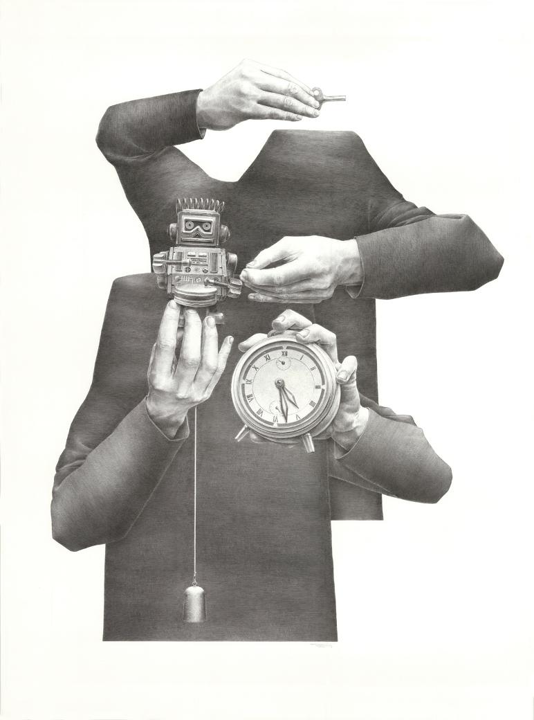 Pierre Coubeau FSTN - Toy, ball-pen on paper
