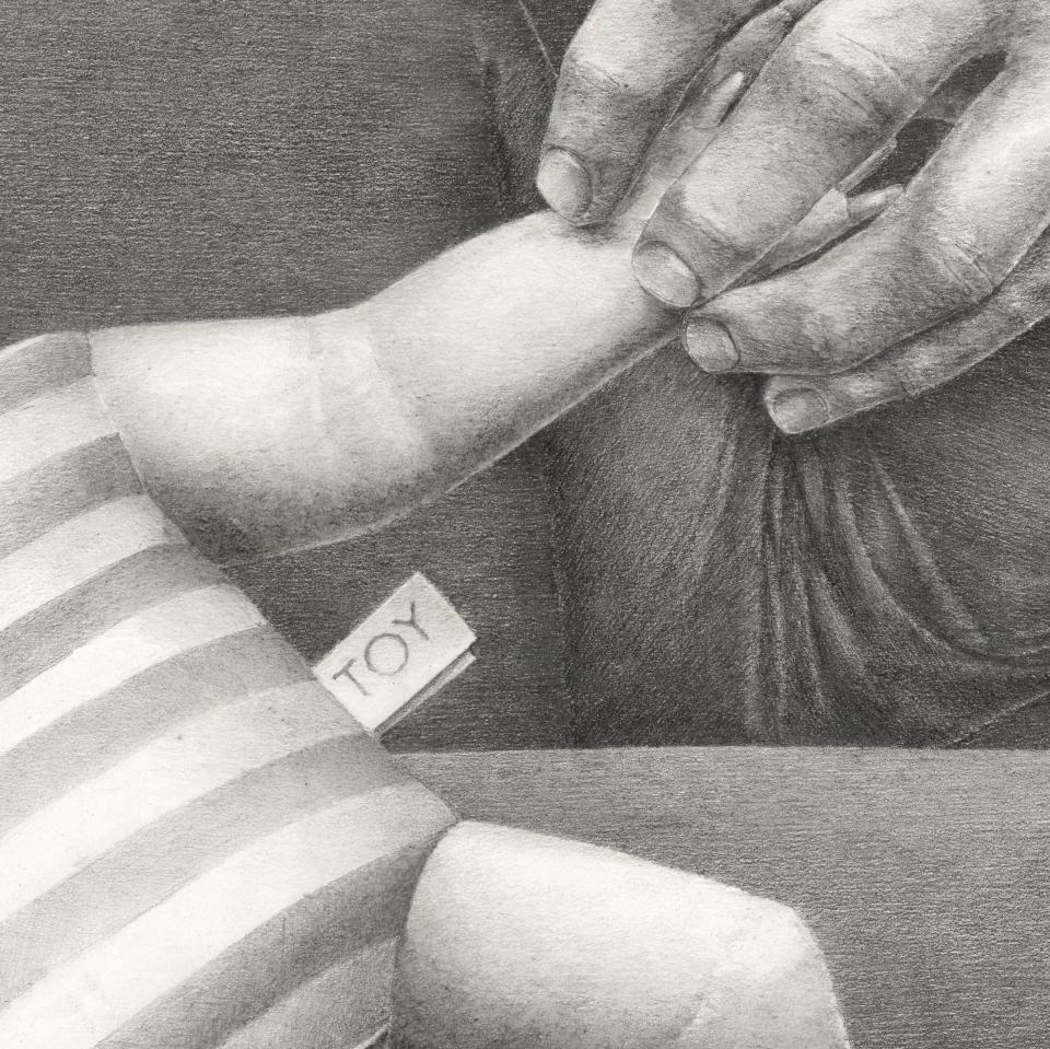 FSTN - TOY #3 (Infantia), graphite on paper, 100 x 74 cm, 2016 (detail)