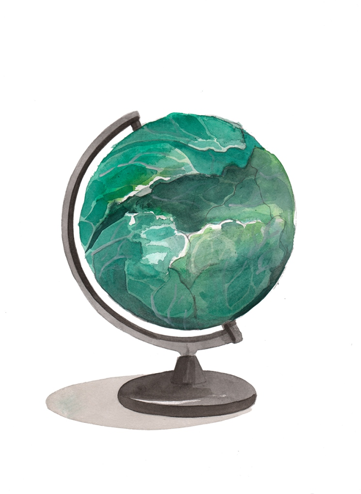 Breath project / Escif - The cabbage globe