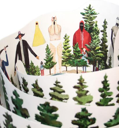 Rob Sato - Seance I: Watchers in the Woods, inside detail, 2014