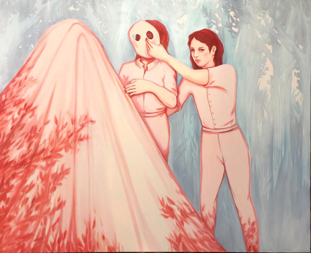 Lise Stoufflet - LA CACHETTE, 2016, 130 X 195 cm, oil painting on canvas