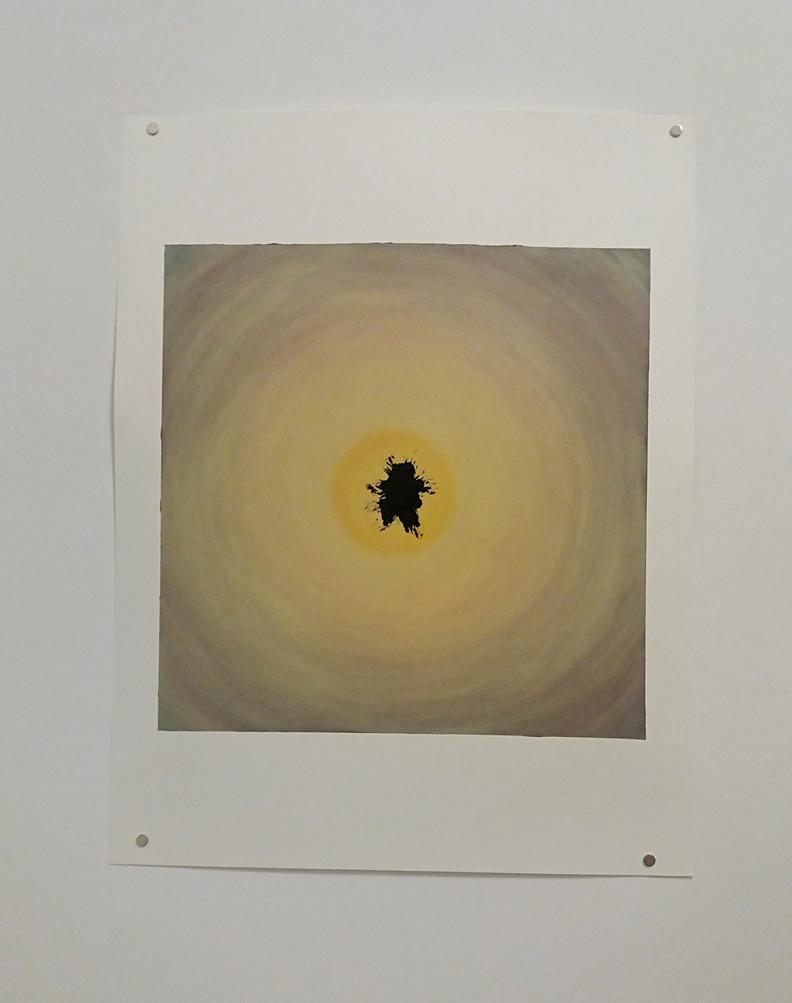 Dragoș Bădiță - Sungazing, 2015, oil on paper, 50 x 65 cm
