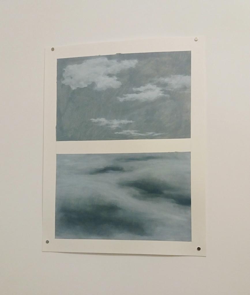 Dragoș Bădiță - Inversion, 2015, oil on paper, 50 x 65 cm
