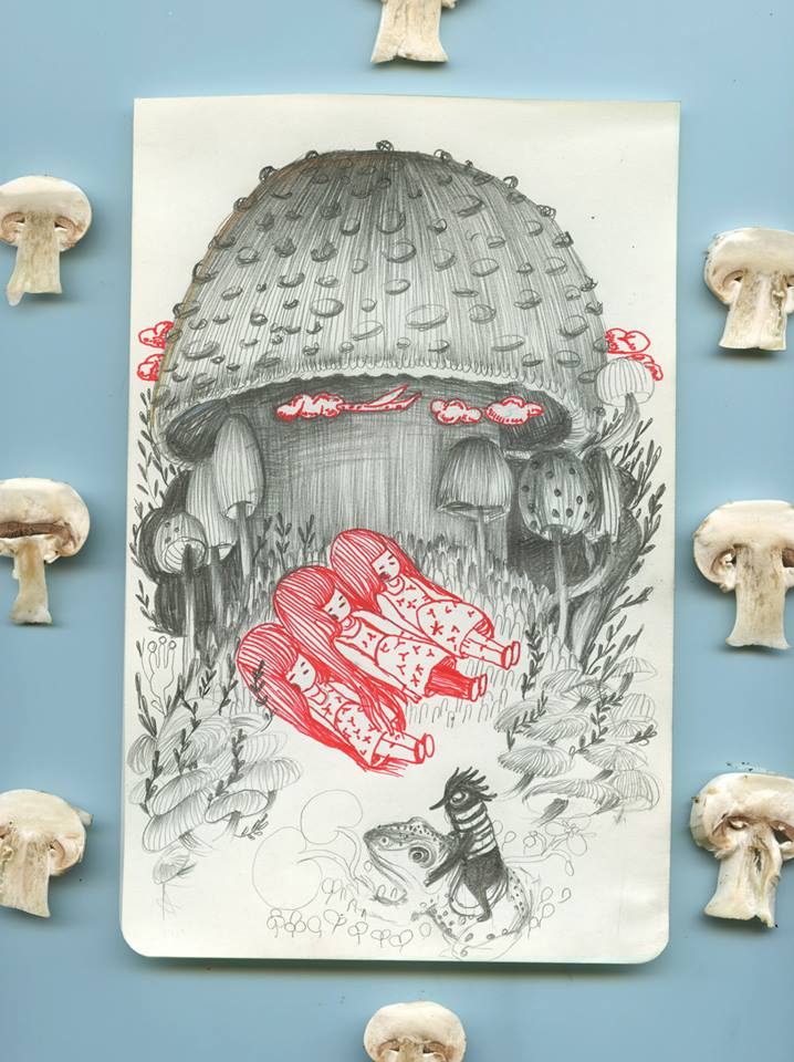 Loreta Isac - 3 best friends in the mushrooms forest